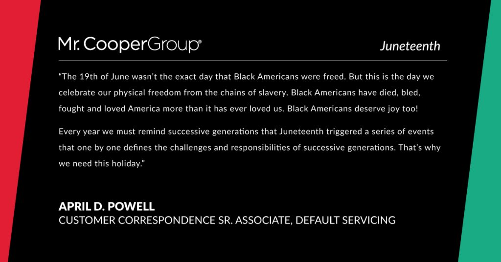 Juneteenth quote from April