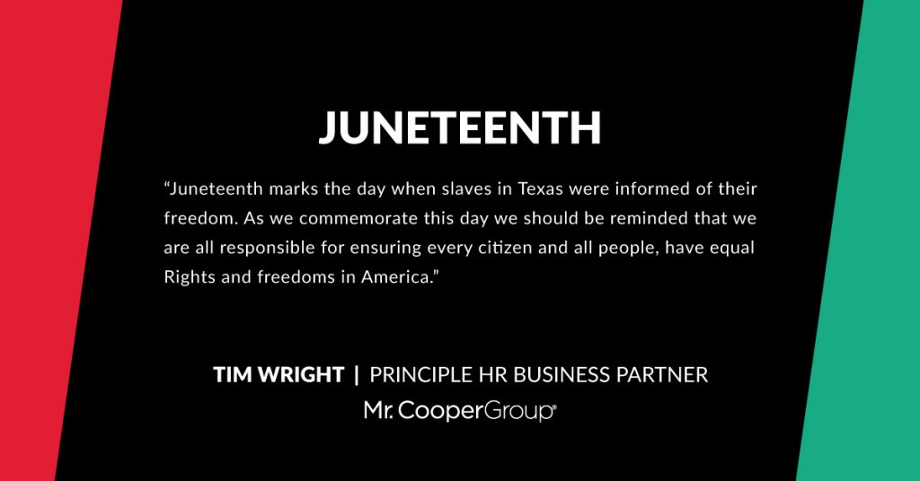 Juneteenth quote from Tim