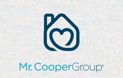 Graphic of a heart inside a house icon above the words Mr. Cooper Group
