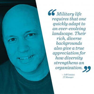 Jeff Camino, a member of Mr. Cooper's military veterans group.