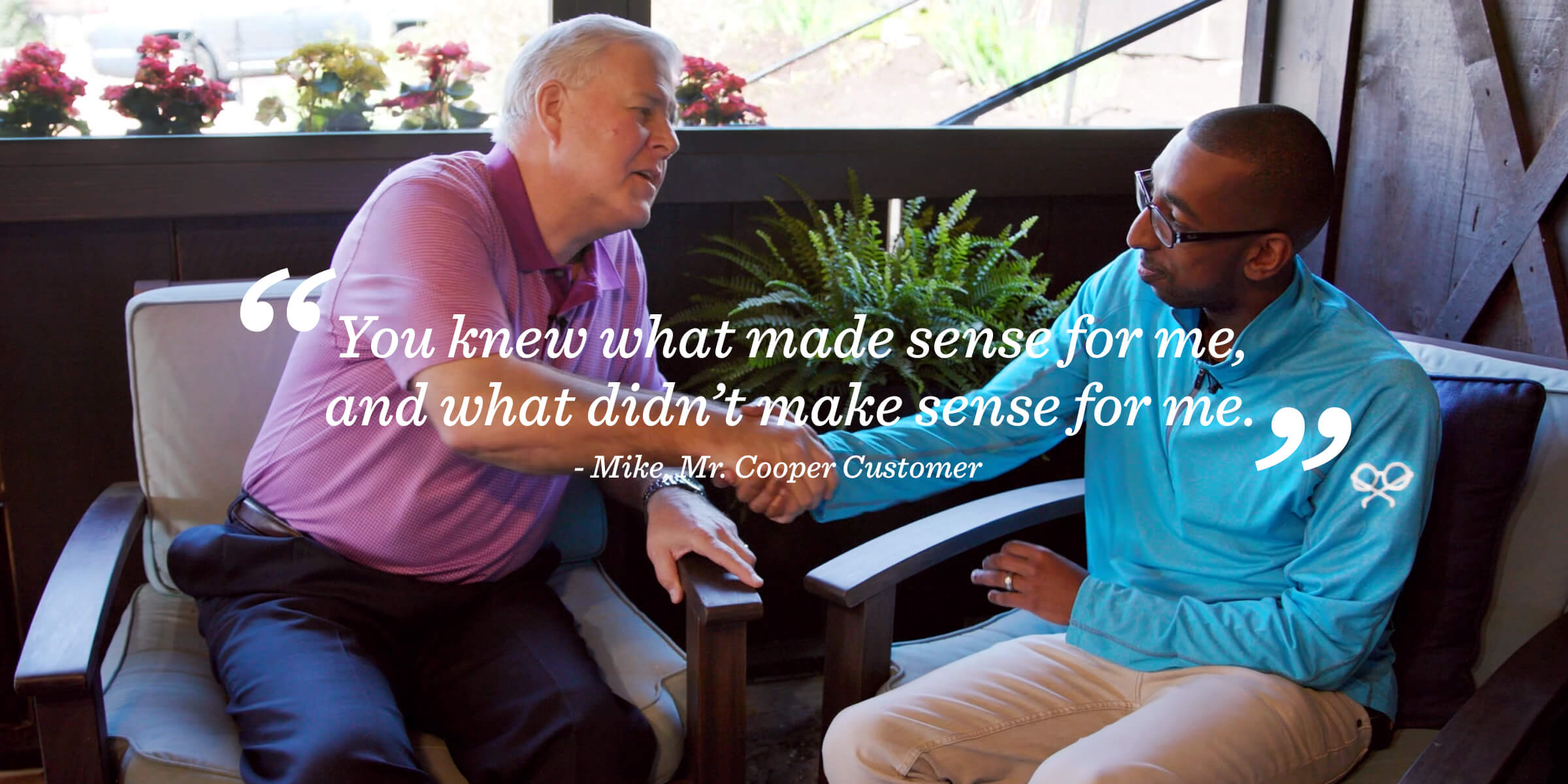 Mike Sanderson's customer testimonial for Coffee With A Cooper