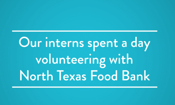Mr. Cooper Interns Volunteer At the North Texas Food Bank