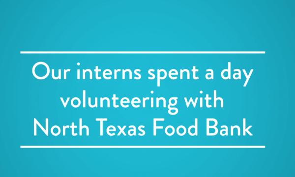 Mr. Cooper Interns Volunteer At the North Texas Food Bank